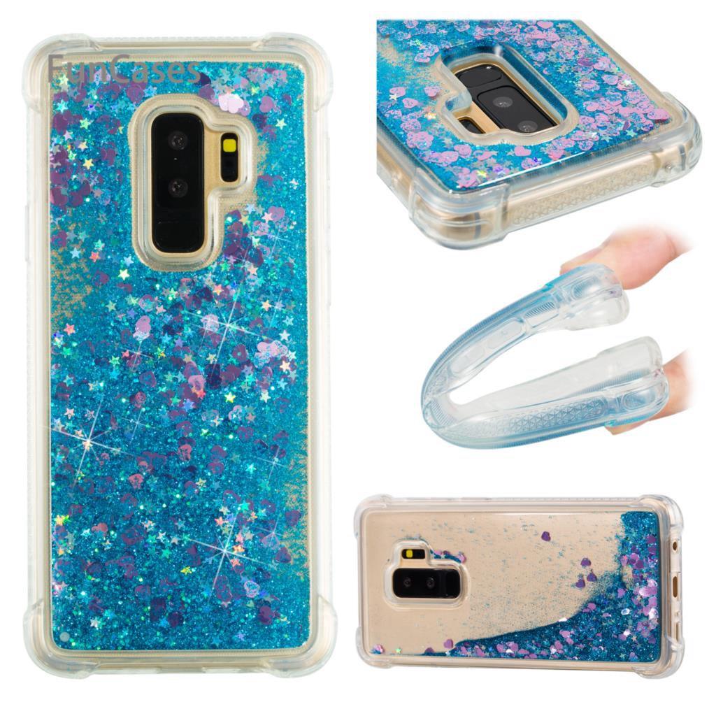 Funda dinámica para Etui Samsung S9 Plus funda trasera suave TPU cubierta transparente funda billetera sFor Samsung galaxy S9 Plus tarjeta Tel