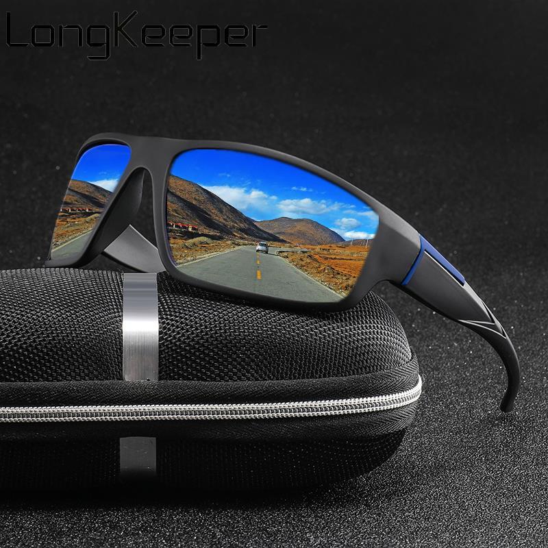 אופנה מקוטבת משקפי שמש גברים נשים מותג עיצוב קלאסי כיכר שמש משקפיים גווני נהג זכר בציר מראה משקפיים UV400