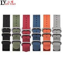 ZULU otan bracelet de montre robuste en Nylon toile sangle anneau boucle 18mm 19mm 20mm 21mm 22mm hommes remplacement bracelet de montre affranchissement exonéré