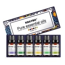 6 sortes dhuiles essentielles de parfum pour diffuseur, humidificateur dhuile daromathérapie de lavande, arbre à thé, romarin, citronnelle, Orange