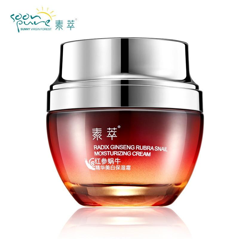 Crema de Caracol de Ginseng rojo SOONPURE para rostro, cabeza negra, tratamiento hidratante antiedad, cuidado de la piel, blanqueamiento, belleza antiarrugas
