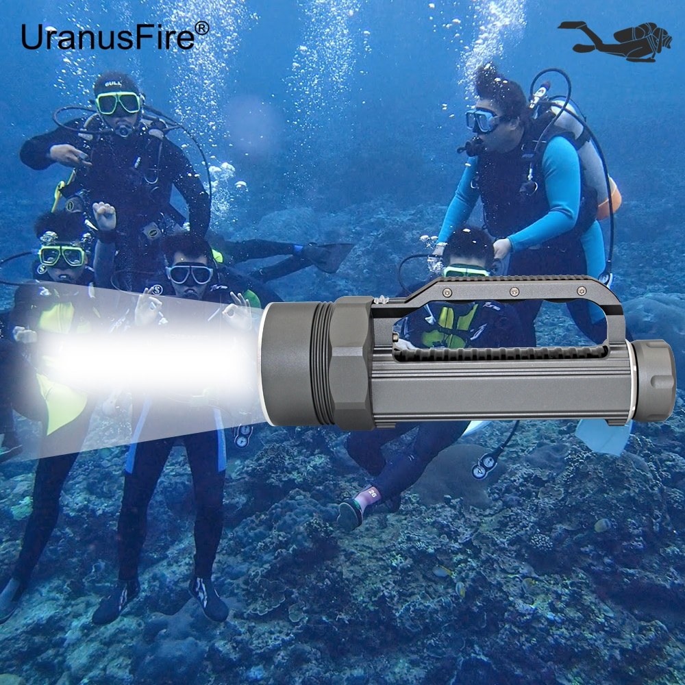 brinyte div03 led scuba diving torch high quality waterproof cree xm l l2 underwater 200m led mini diver diving light flashlight Diving Flashlight 4x  XM-L2 LED Flashlight Underwater Torch Waterproof Diver Light 4800 Lumens 26650 Lanterna