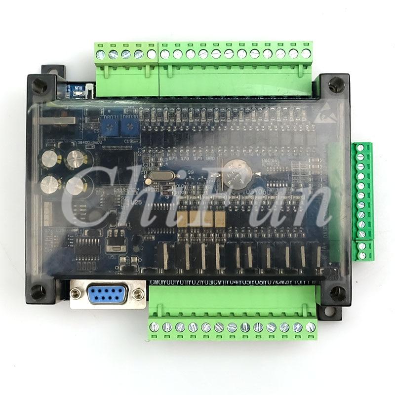 DC24V FX1N FX2N FX3U-24MT PLC Industrial control board 6AD 2DA 14 input 10 transistor output RS485 RTC communications with shell