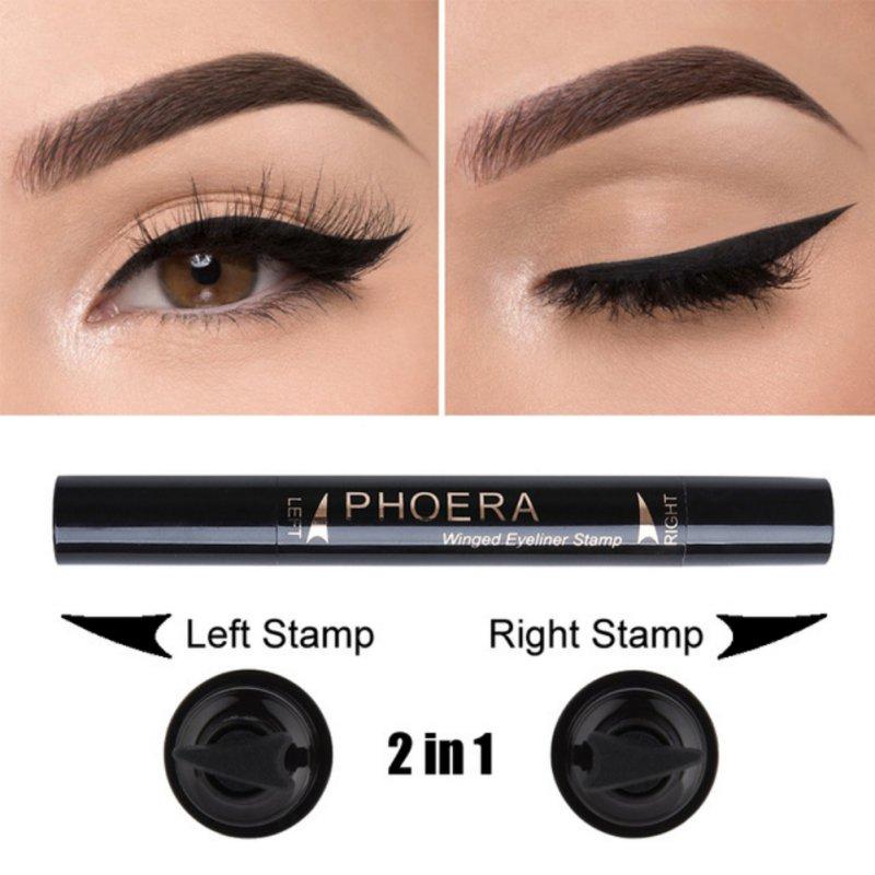 Natural Profissional  2 In Easy to Wear Eyes Makeup Eyeliner Stamp Waterproof Long-Lasting Eye Liner Beauty maquiagem Hot Sale