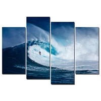 surfing extreme sport 4 panels modular painting modern home decoration living room or bedroom canvas print wall picture