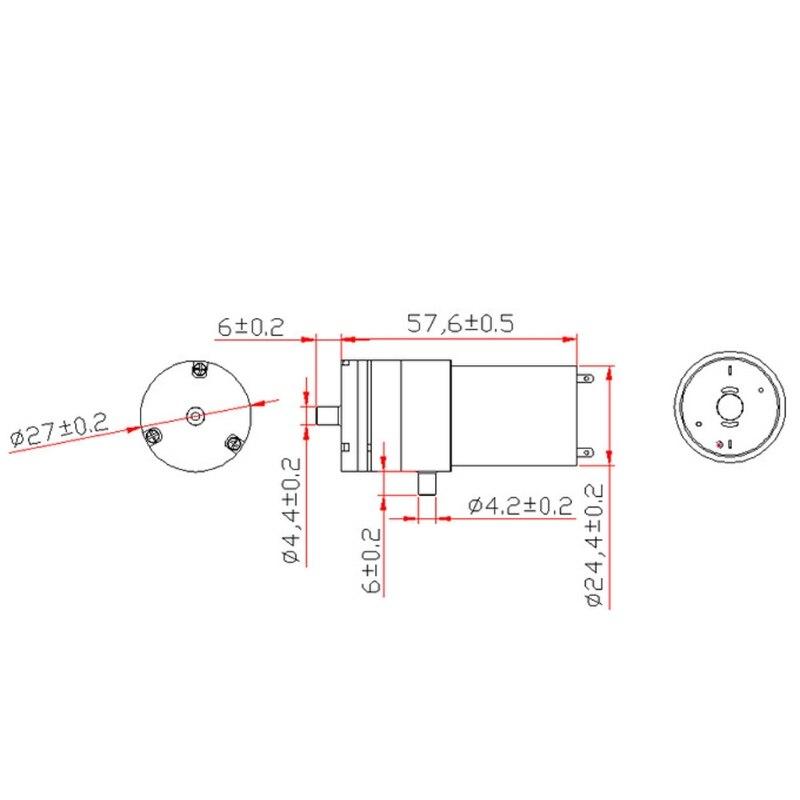 Dc 12v micro impulsionador elétrico da bomba de ar do vácuo para o instrumento de tratamento mar28
