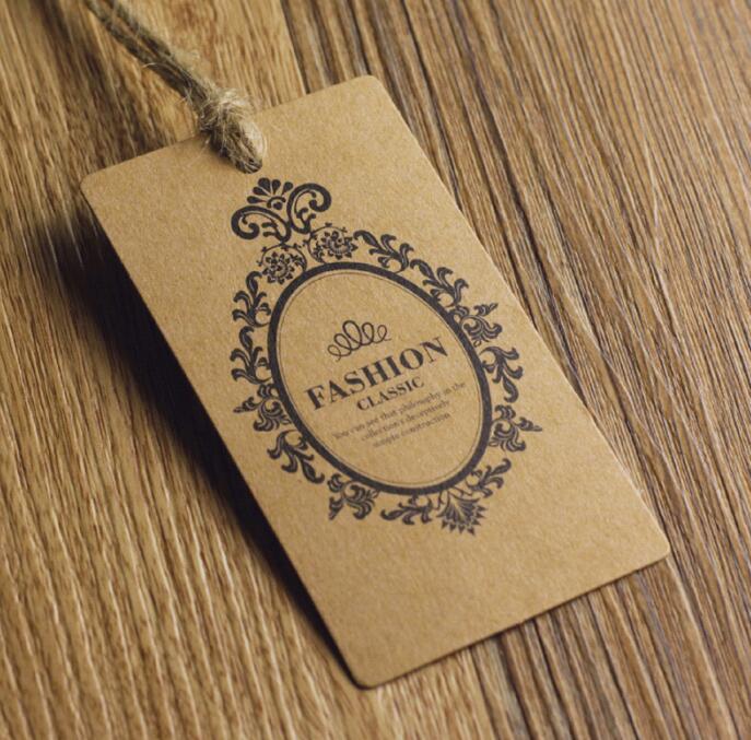 Индивидуальные штампованные золотые фольги/штампованные бирки для одежды 300 г бумажные этикетки, зонтичные мешки для нижнего белья и бирки