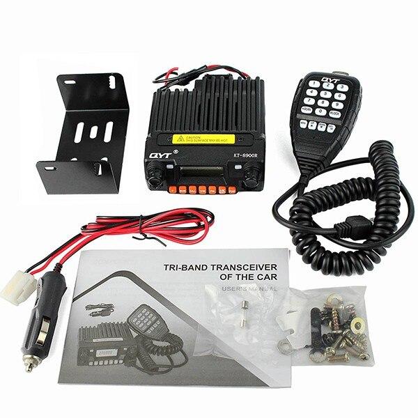 Rádio móvel kt-8900r-136-174/240-260/400-480 mhz dtmf ctcss da estação de rádio kt8900r do carro do transceptor vhf do walkie talkie mini