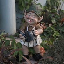 Poly Harz Garten Gnome Figur Hof Zwerg Statue Outdoor Zwerg Skulptur Dekorationen