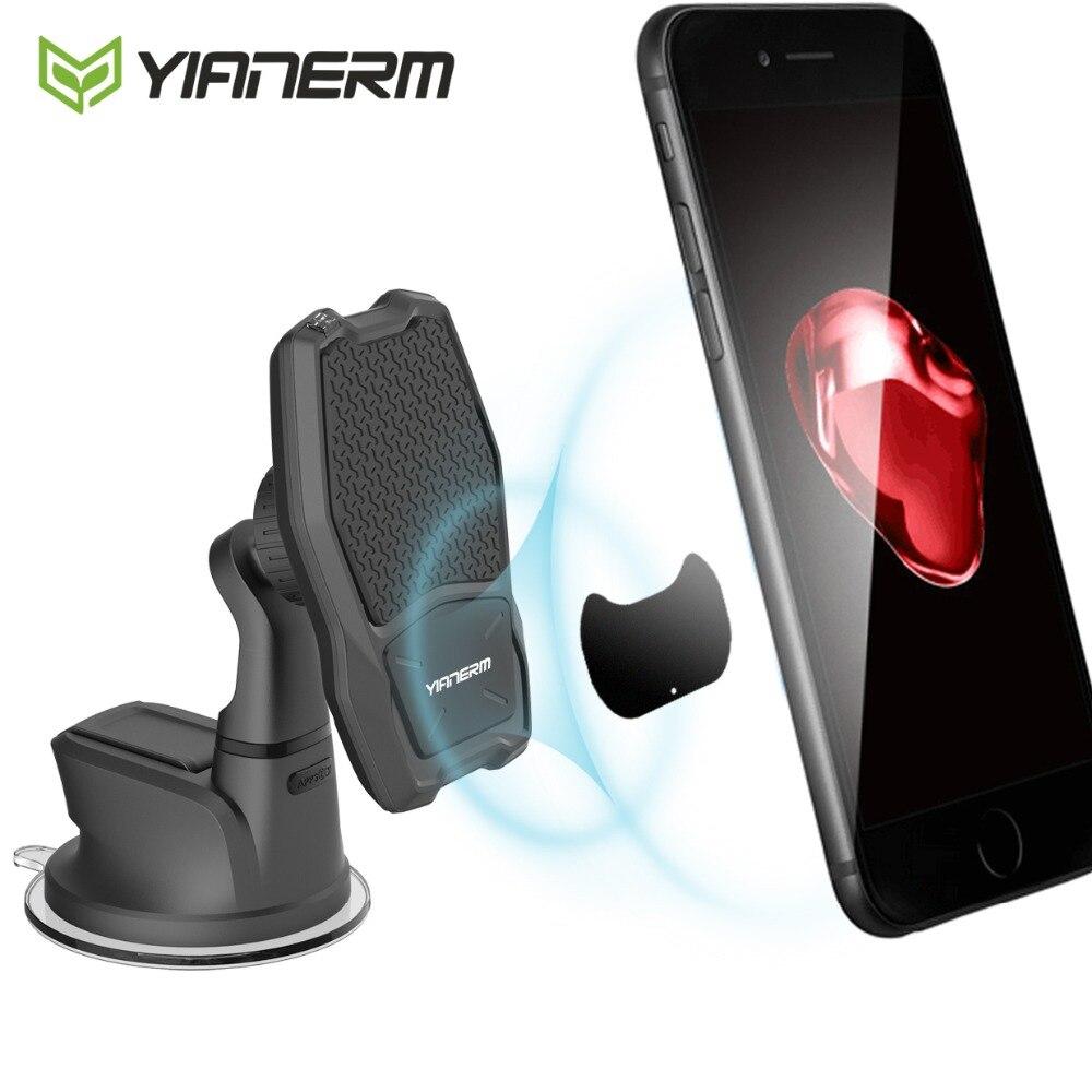 Cargador inalámbrico QI magnético Yianerm soporte de teléfono para coche soporte de carga inalámbrica rápida 10W para iPhone Xs Max 8 Plus Samsung Note 9