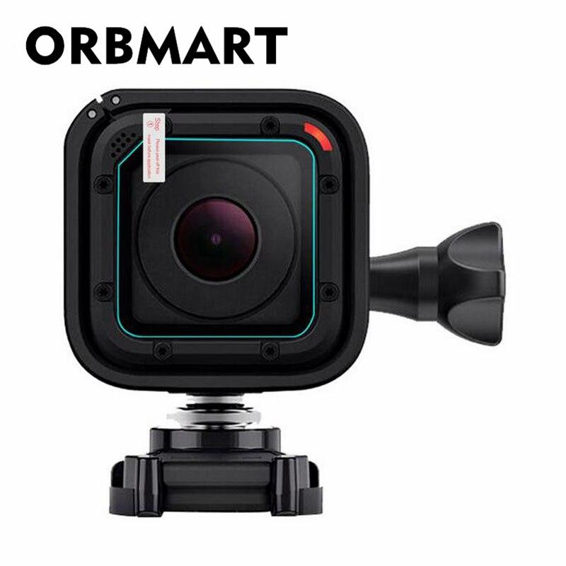 ORBMART Front Objektiv Gehärtetem Glas Screen Protector Fall Abdeckung Für GoPro Go pro Hero 4/5 Hero4 Hero5 Sitzung Kamera Ultra klar