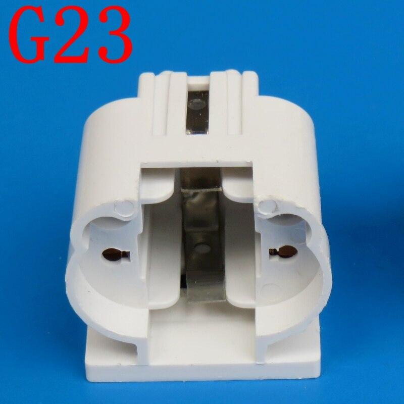 Envío gratis 10 unids/lote G23 soporte de lámpara/tubo H 11W ahorro de energía LED lámpara de enchufe horizontal enchufe G23 BASE de luz de dos agujas