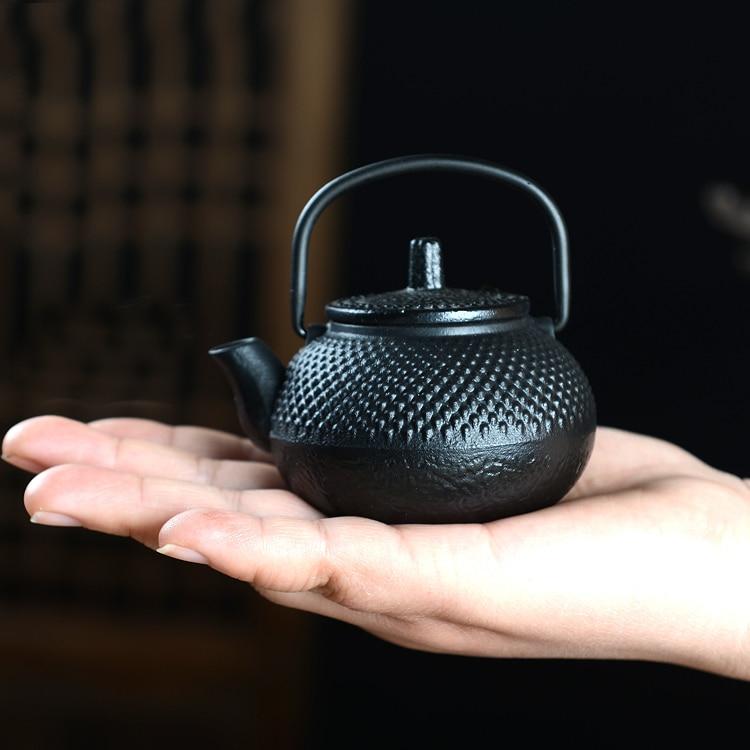 50 мл Мини Железный чайник чугунный чайник маленький чайник чайные наборы кунг-фу чай домашнее украшение подарки