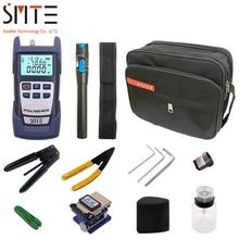 12 teile/paket FTTH Fiber Optic Tool Kit mit FC-6S fiber optic cleaver Power Meter Visual Fault Locator Faser Abisolieren Zange