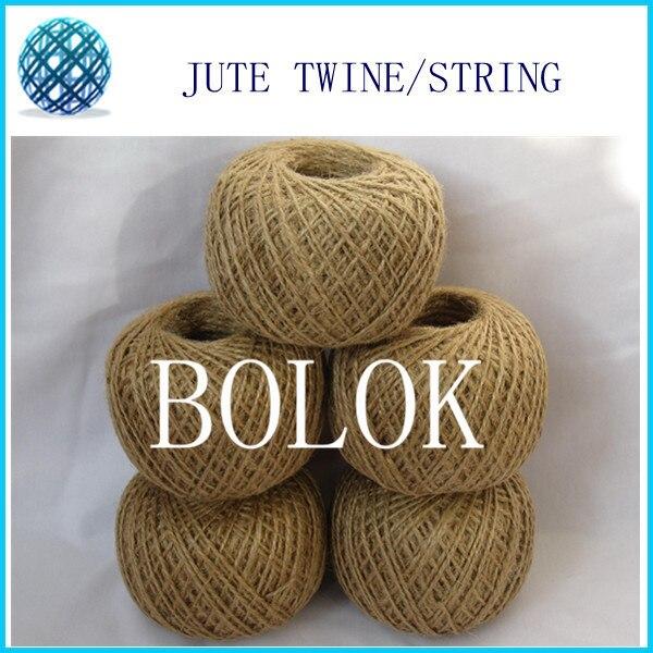 free shipping 10pcs/lot DIY Natural jute twine (1.5-2mm)110yards/ball (2 ply twisted) raw  jute string, DIY Jute cords