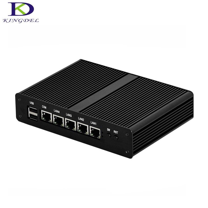 4 * Lan Ethernet Mini PC-direcciones Routers J1900 Quad Core pfSense Celeron computadora de escritorio 2,0 Ghz windows10 Vga USB RJ45pfsense