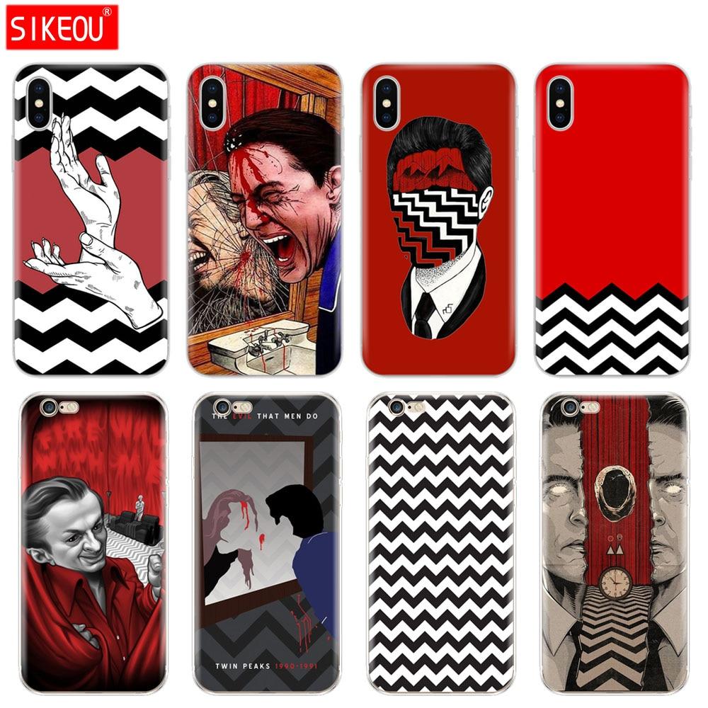 Силиконовый чехол для телефона Iphone 6X8 7 6s 5 5S SE Plus 10 XR XS Max чехол Twin Peaks Fire Walk With Me