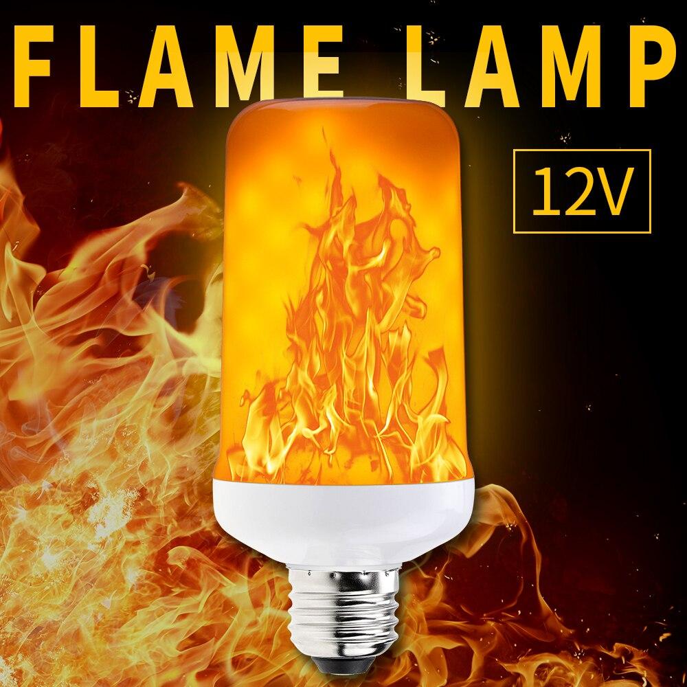 DC 12 V E27 E14 Flamme LED Lampen Flamme Wirkung Birne Zwei Modi 99 leds E26 feuer Lichter Simulation Flamme flimmern SMD2835 Freies verschiffen