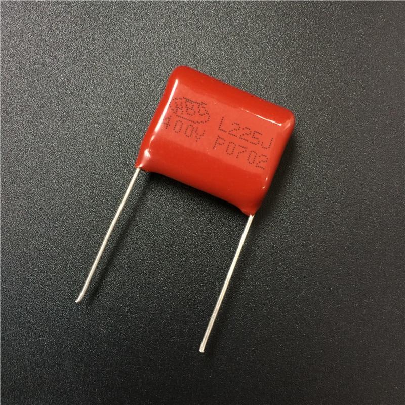 50Pcs Cbb Condensator 225 400V 225J 2.2Uf 2200nF P20 CBB21 Gemetalliseerde Polypropyleen Film Condensator