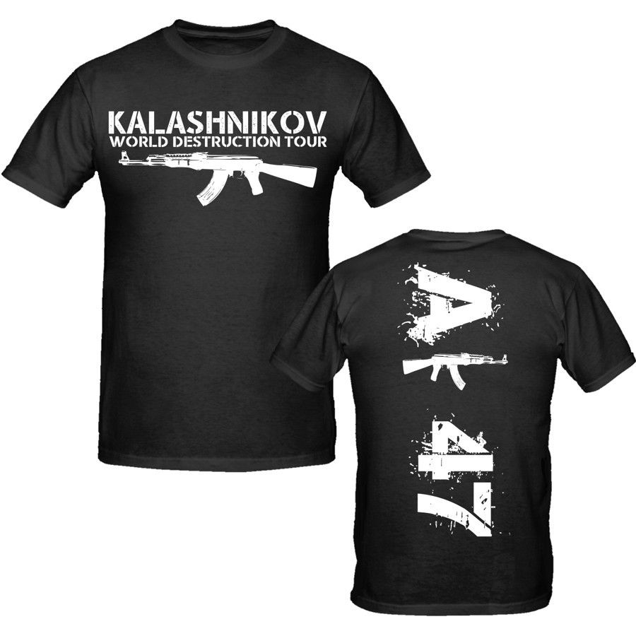 Hombres 2020 algodón de 100% envío gratis Venta de marca de ropa Tees Casual Ak 47 camiseta s-xxxl armas militar camiseta