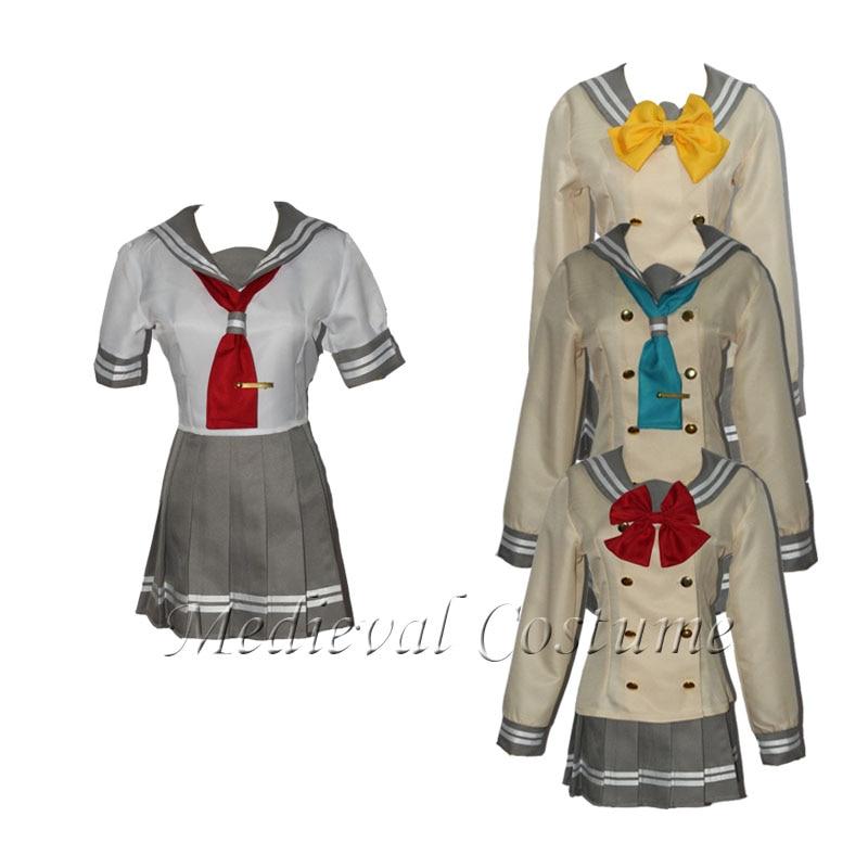Lovelive sunshine Aqours Tsushima Yoshiko Cosplay Costume Japanese Anime Love live Girl Sailor School Uniform Suit Clothes set