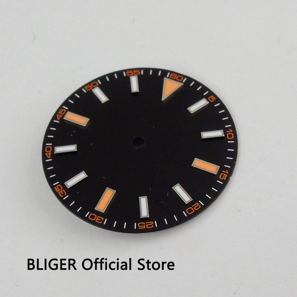 BLIGER 30,8 MM negro clásico estéril Dial reloj de MIYOTA 8215 MINGZHU 2813 movimiento automático D31