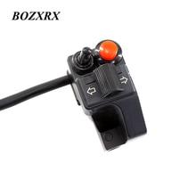 "BOZXRX Multifunction 7/8 ""22mm Motocicletas Guiador Botão Da Buzina Feixe Winker Turn Switch Para Honda YAMAHA BMW GS"
