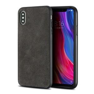 Phone Case For Xiaomi Mi 6 8 SE  Explorer A2 Mix 2S Max 2 3 Suede leather Soft TPU Edge Cover