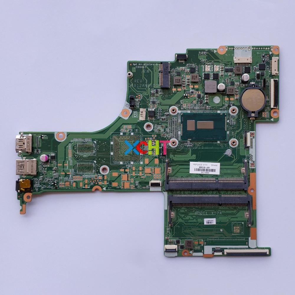 Para HP Pavilion cuaderno 17-G serie 17T-G000 809318-601, 809318-001 809318-501 w i5-5200U CPU UMA DAX12AMB6D0 PC placa base