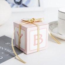 10 قطعة الطفل تذكارية الوردي الأزرق الطفل الحلوى علب دراجي الزفاف هدايا للضيوف هدية الكريسماس للأطفال حفلة Favors الحاضر