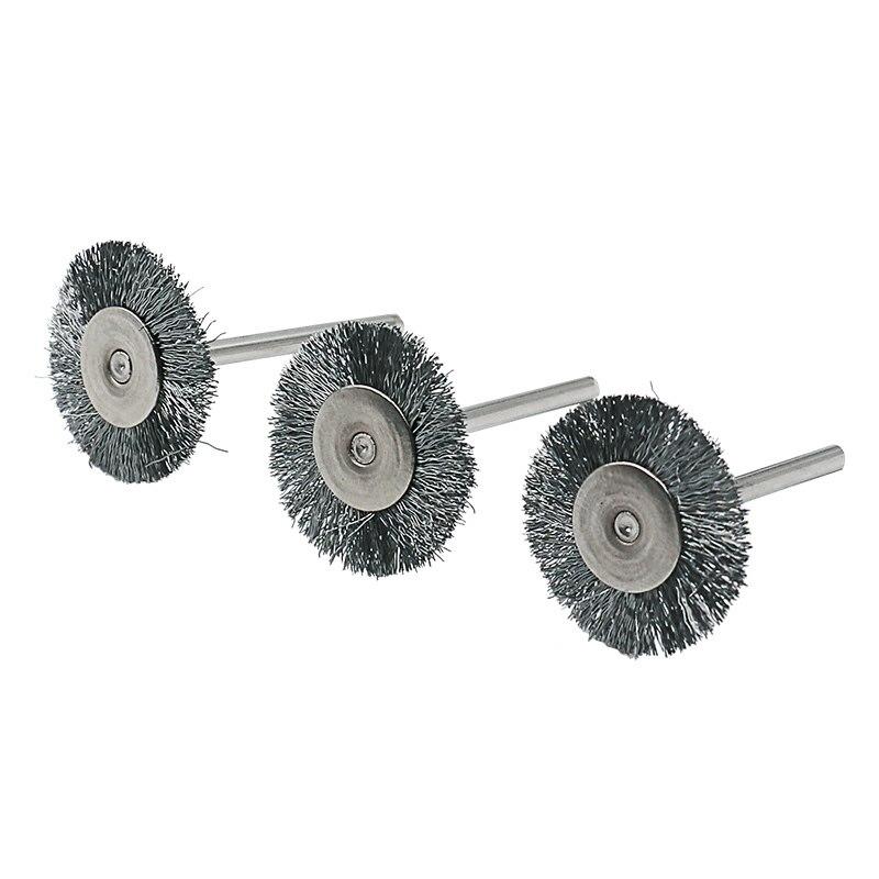 9ks ocelový kartáč drátěný kartáč na kolo rotační nástroj - Brusné nástroje - Fotografie 2