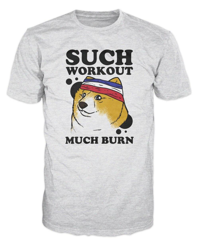2019 nueva moda marca ropa Doge perro tal entrenamiento divertido Meme Hipster camiseta