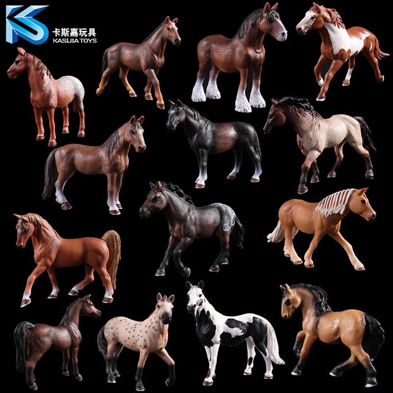 Развивающая фигурка для детей, Имитация животных, для мальчиков, черная лошадка