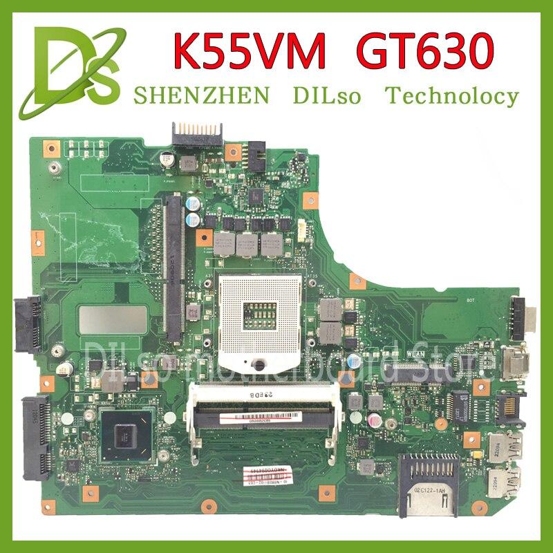 Placa base KEFU K55VM para ASUS K55VM K55V K55 K55VJ placa base para ordenador portátil K55VM GT630 2GB REV 2,2 placa base original de prueba