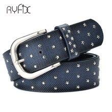 Nouvelle mode femmes Rivet ceintures Punk rock style jean ceinture PU en cuir véritable paillettes métal boucle large métal rivet perle BL392