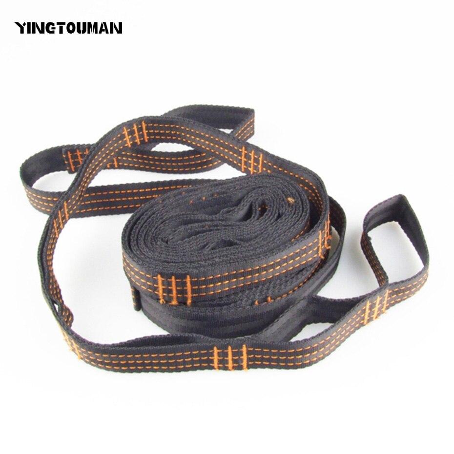 YINGTOUMAN largeur 2.5 cm Portable Camping en plein air randonnée hamac ceinture suspendue hamac sangle corde lier corde hamac sangle corde