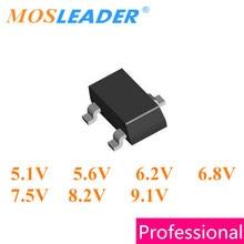 Mosleader 3000 PC SOT23 BZX84C5V1 5.1 V BZX84C5V6 5.6 V BZX84C6V2 6.2 V BZX84C6V8 6.8 V BZX84C7V5 7.5 V BZX84C8V2 8.2 V BZX84C9V1 9.1 V