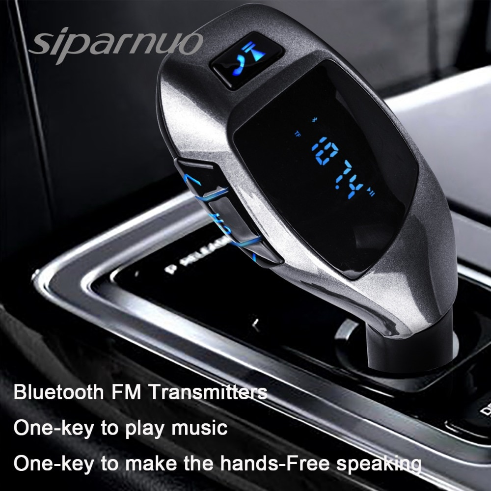 Siparnuo X5 Bluetooth Car Kit MP3 Player FM Transmitter with Headset Phone Transmisor