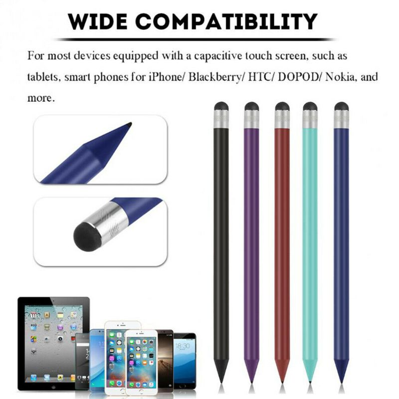 Retro Round Thin Tip Touch Screen Pen Capacitive Stylus Pen Replacement For iPad iPhone Mobile Phone