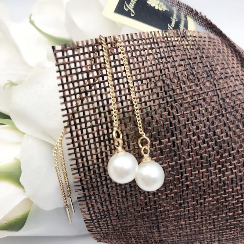 2019 pendientes de perlas perla de agua dulce natural auténtica pendientes de oro joyería de perlas para mujer regalo de boda