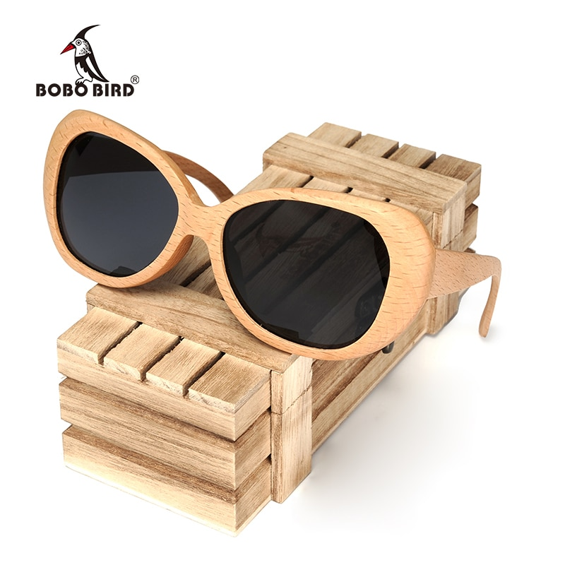 BOBO pájaro madera gafas de sol hombres moda estilo polarizado gafas de sol con caja aceptar Envío Directo OEM C-AG003