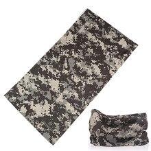 Buffe-foulard de tête de Camouflage   Masque tactique magique sans couture pour hommes, Bandana tubulaire pour moto