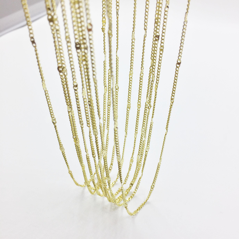 Eruifa, 10 Uds., cadena pequeña Ext con cadena de 45cm de 6 cm, collar DIY, 2 colores sin níquel y sin plomo