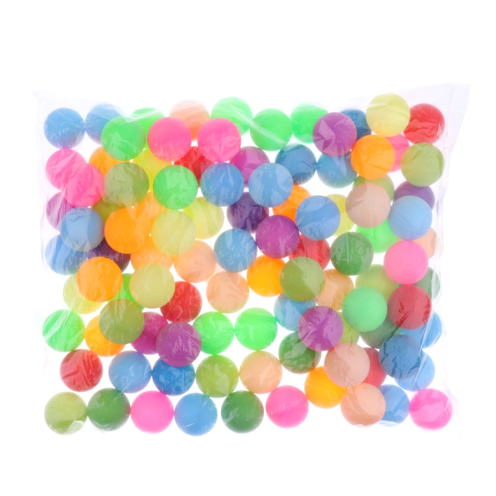 100pcs Mixed Color Table Tennis Balls Cat Balls 40mm Plastic Colorful Beer pong Ping Pong for Game and Activity