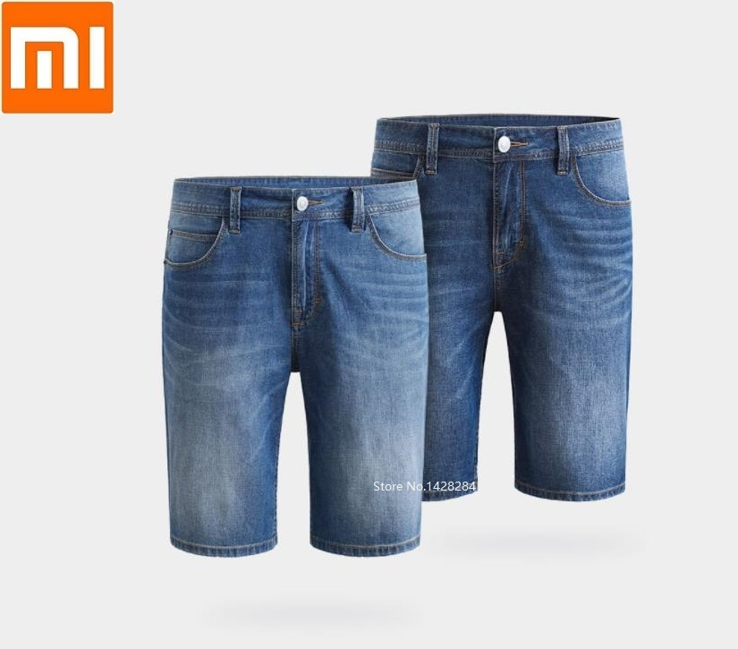 Fina e Leve Youpin Cottonsmith Roupa Masculina Respirável Cowboy Shorts Calças Legal Moda Jeans