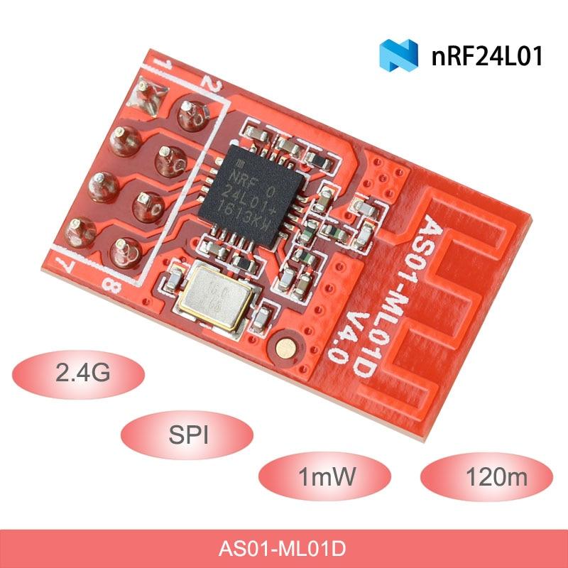 2,4G inalámbrico Módulo de radiofrecuencia 120m 1mW DIP SPI transmisor y receptor RF nRF24L01P Antena de PCB Módulo de radiofrecuencia