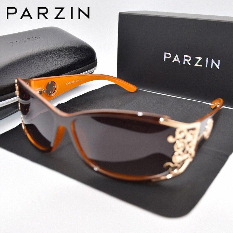 PARZIN, gafas de sol de lujo para mujer, gafas de sol polarizadas para conducir, gafas de sol Vintage para mujer, gafas de sol negras con embalaje PZ18
