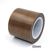1 Roll Hoge Temperatuur PTFE Teflon Plakband 50mm x 10 meter * 0.13mm (T)