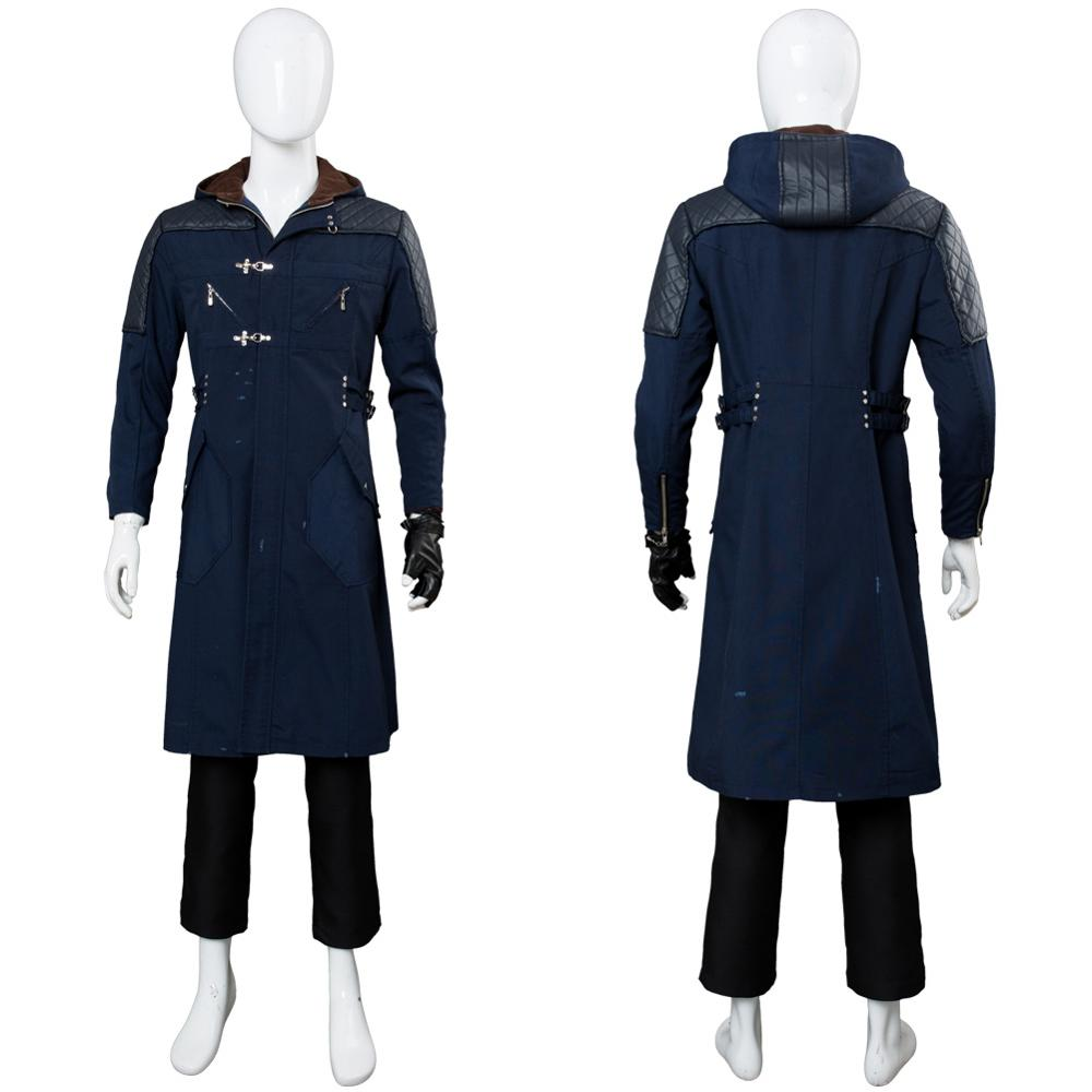 DMC 5 Nero Cosplay traje Nero chaqueta gabardina traje completo Halloween carnaval disfraz