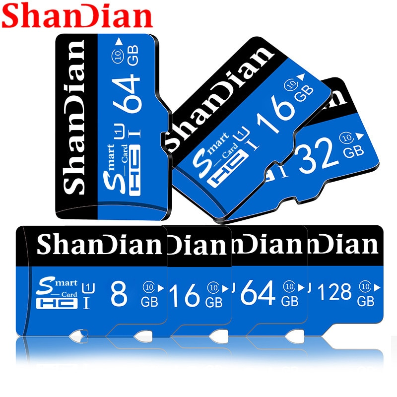 SHANDIAN nuiflash Novo Class10 Micro Sd Cartão De MEMÓRIA de 128gb gb 32 64gb/16gb/8gb cartão micro sd cartão TF tarjeta micro sd navio livre